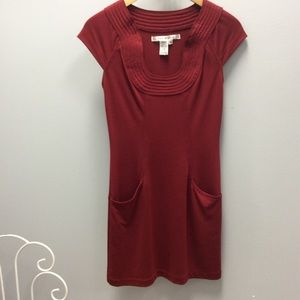 Max Studio red dress with pockets size XS